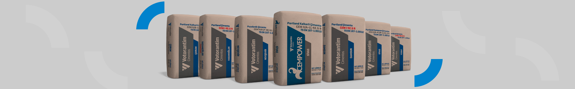 Votorantim Cimentos offers different types of cement for different uses in construction